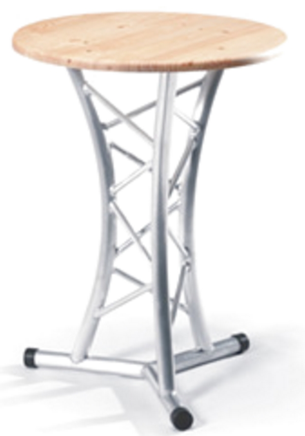 Truss table ii tall free standing cocktail